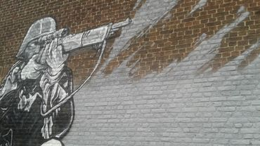 Le fragment de la fresque qui fait polémique