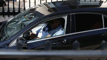 Cristiano Ronaldo est entré en voiture par un garage sans parler à la presse.