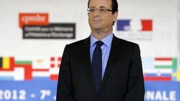 François Hollande le 10 mai 2012 à Paris