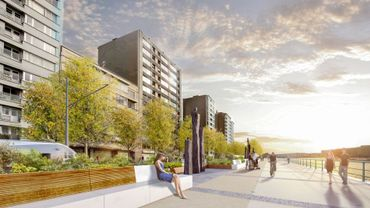 Les quais St Léonard et Coronmeuse tels qu'ils pourraient ressembler dans le futur