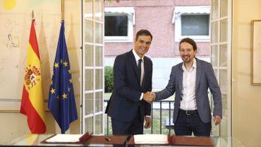 Espagne: le gouvernement et Podemos s'accordent sur un budget anti-austérité