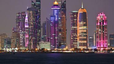 Vue générale des gratte-ciel de Doha, la capitale du Qatar, le 20 décembre 2019