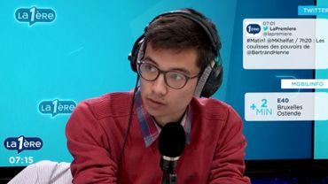 """Maxime Mori: """"Aujourd'hui, il n'est pas normal que des étudiants doivent passer des concours, des examens d'entrée, et ainsi de suite""""."""