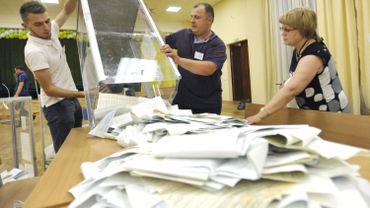 Dépouillement des résultats en Ukraine