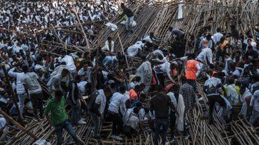 Image du drame lors de la cérémonie du Timkat, à Gondar