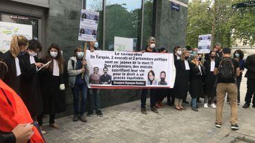 L'action des avocats belges devant le consulat de Turquie à Bruxelles
