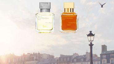 "Les parfums ""Petit Matin"" et ""Grand Soir"" de Maison Francis Kurkdjian."