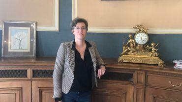 Catherine Moureaux, la bourgmestre PS, dans son bureau.