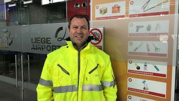 Christian Delcourt, le porte-parole de l'aéroport