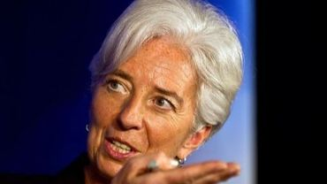 La directrice du FMI, Chrisitne Lagarde, le 20 mars 2012 à New Delhi