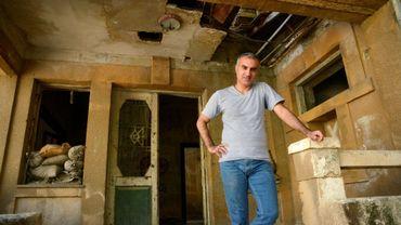 Le chanteur iranien Omid Tootian, dans la zone-tampon entre Chypre et Chypre-Nord contrôlée par l'ONU, à Nicosie, le 23 septembre 2020