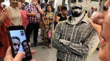 Petite fête organisée à l'Université de Liège en l'honneur de la libération d'Hamid Babaei