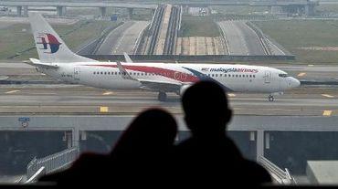 Un avion de la Malaysia Airlines sur le tarmac de l'aéroport le 27 juillet 2014 à Kuala Lumpur