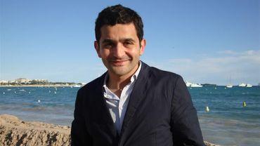 Laurent Capelluto sur la plage de la Quinzaine à Cannes