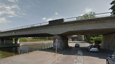 Le pont Delwart à Tournai