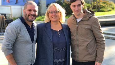 Hatim Kaghat, Françoise Berlaimont et Louis Colart