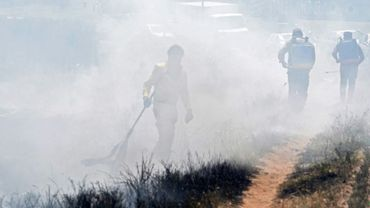 Incendie près de l'aéroport de Luque, au Paraguay, le 29 septembre 2020