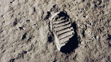 L'un des premiers pas sur la Lune, le 20 juillet 1969