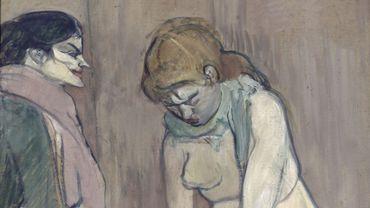 """Henri de Toulouse Lautrec (1864-1901), """"Femme tirant son bas"""", 1894"""