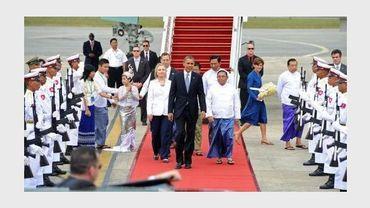 Barack Obama arrive en Birmanie le 19 novembre 2012 à Rangoun