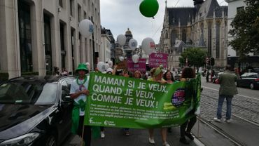 """Manifestation par le 'Collectif des 350"""", Bruxelles, le 9 septembre 2018"""