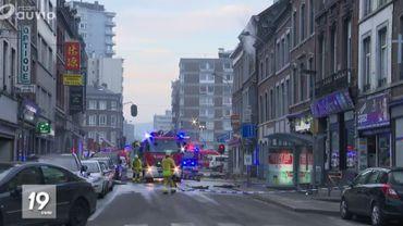Explosion à Liège: la rue Grétry a été rouverte à la circulation