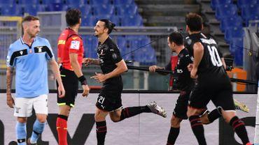 Zlatan Ibrahimovic marque contre la Lazio