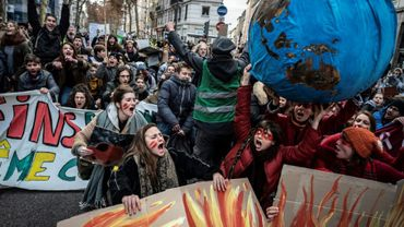 La marche pour le climat à Lyon, le 8 décembre 2018