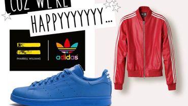 La logo de la collection Adidas et Pharrell Williams et les premières pièces.