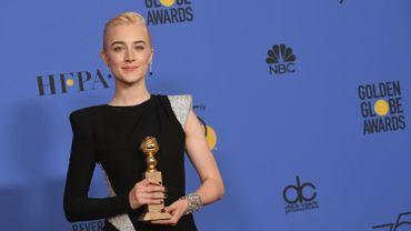 """L'actrice Saoirse Ronan a remporté le Golden Globe de la meilleure actrice pour son rôle dans la comédie dramatique """"Lady Bird"""""""