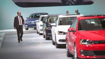 Le stand VW au salon de Detroit