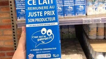 """""""C'est qui le patron ? """": la brique de lait au prix fixé par les consommateurs débarque en Belgique"""