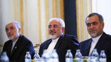Au centre, le chef de la diplomatie iranienne Mohammad Javad Zarif, photographié le 3 juillet 2015 à Vienne