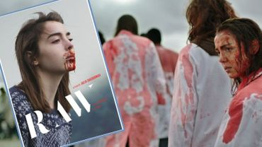 """""""Grave"""", et son affiche pour les anglaiphones, avec le titre """"Raw"""" (cru)"""