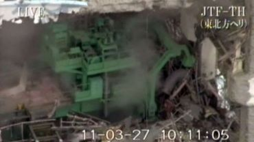 Capture d'écran en date du 27 mars 2011du réacteur n°4  de la centrale de Fukushima.