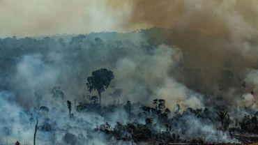 Photo prise le 23 août 2019 des incendies en Amazonie