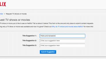 Un formulaire secret sur Netflix