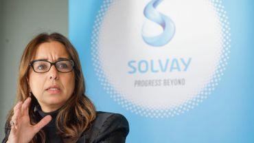 Ilham Kadri, CEO de l'entreprise Solvay.