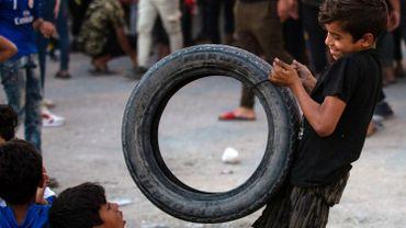 Jeux, durant la manifestation du 31 octobre dernier, à Basra