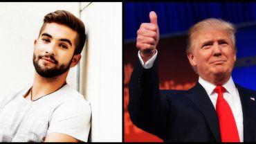 Kendji Girac et Donald Trump