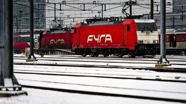 Un train Fyra à l'arrêt en gare d'Amsterdam