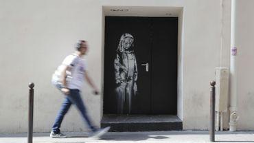 Une oeuvre attribuée à Banksy à l'arrière du Bataclan