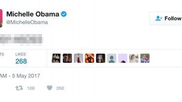 Michelle Obama tweete par erreur un numéro de portable