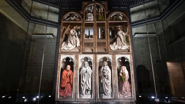 Un panneau de l'Agneau Mystique des frères Van Eyck