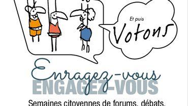 """Le 14 octobre 2018, ce seront les élections communales! L'opération citoyenne """"Enragez-vous, engagez-vous et puis votons!"""" tentera de renforcer l'implication de tous dans la démocratie locale. Une initiative de la CEP (Coordination Education permanente BW) et de ses partenaires."""