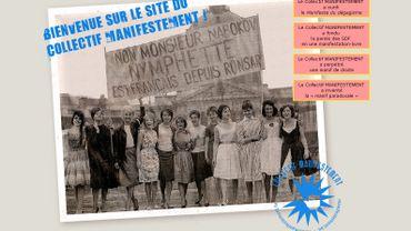 Capture d'écran de la page d'accueil du site du collectif manifestement