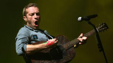 Chris Martin, le chanteur de Coldplay, au Festival de Glastonbury en 2011