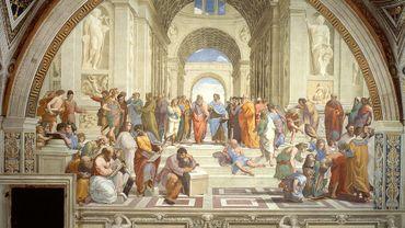 'L'École d'Athènes' par Raffaello Sanzio da Urbino