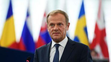 Le président du Conseil européen Donald Tusk le 17 mai 2017 à Strasbourg