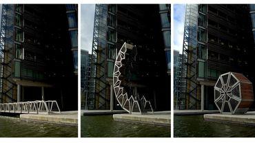 "Le ""Rolling Bridge"" de Thomas Heatherwick"